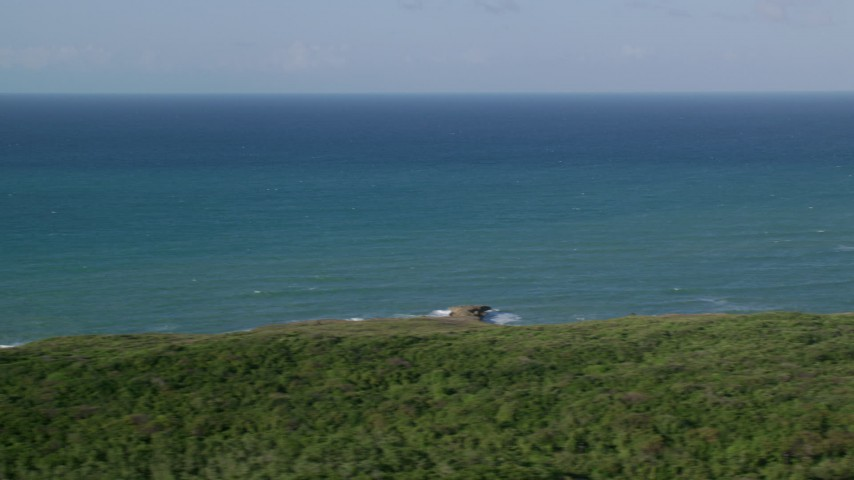 5k stock footage aerial video of Turquoise blue waters, Loiza, Atlantic Ocean Aerial Stock Footage | AX103_138