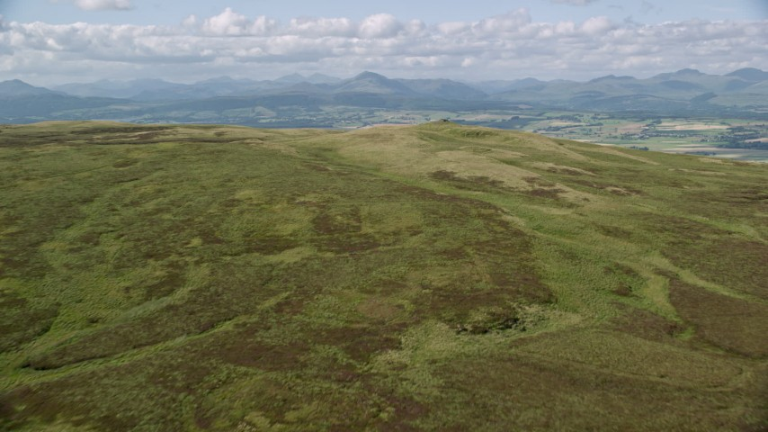 6K stock footage aerial video approach Carleatheran in Gargunnock Hills, Scotland Aerial Stock Footage | AX110_025