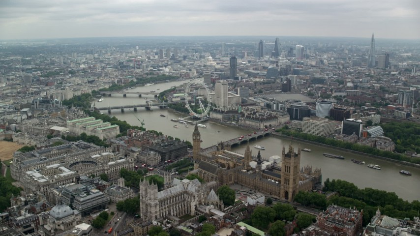 London, UK Aerial Stock Footage