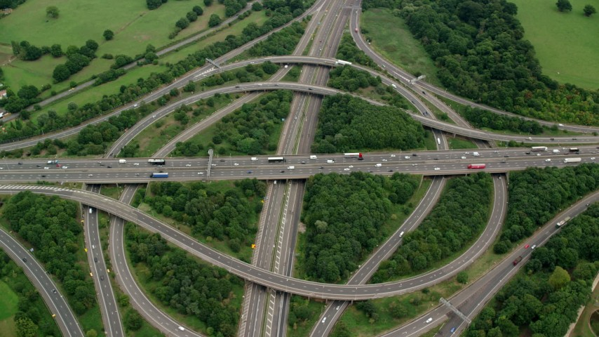 Freeways Aerial Stock Footage
