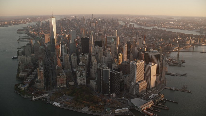 Manhattan, NY Aerial Stock Footage