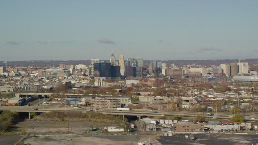 6K aerial stock footage video of skyscrapers in Downtown Newark, New Jersey Aerial Stock Footage | AX119_001