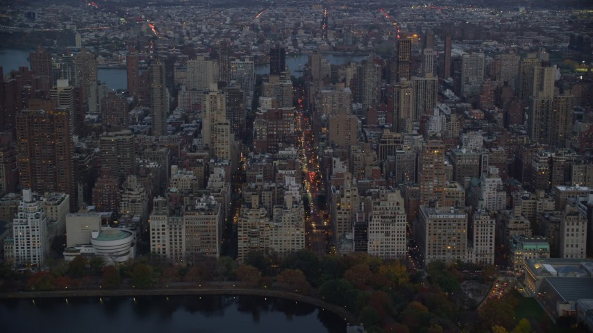 Approach Upper East Side Apartment Buildings at Sunset in ...
