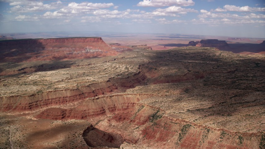 6K stock footage aerial video of approaching narrow desert canyons, Navajo Nation Reservation, Arizona, Utah Aerial Stock Footage | AX132_088