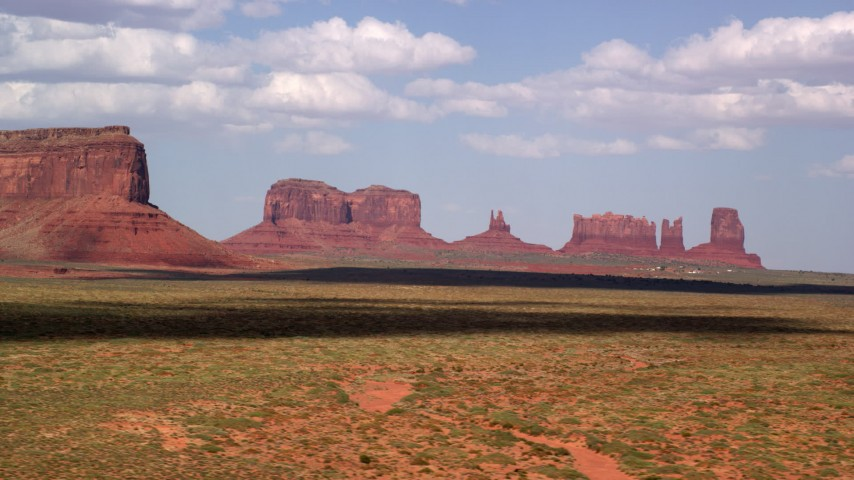 Monument Valley, UT, AZ Aerial Stock Footage