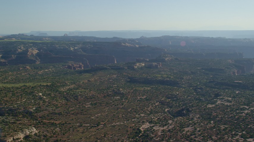6K stock footage aerial video of part of Taylor Canyon in Canyonlands National Park, Utah Aerial Stock Footage | AX138_125