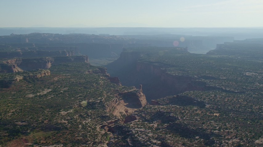An Arm of Taylor Canyon, Canyonlands National Park, Utah Aerial Stock Footage | AX138_127