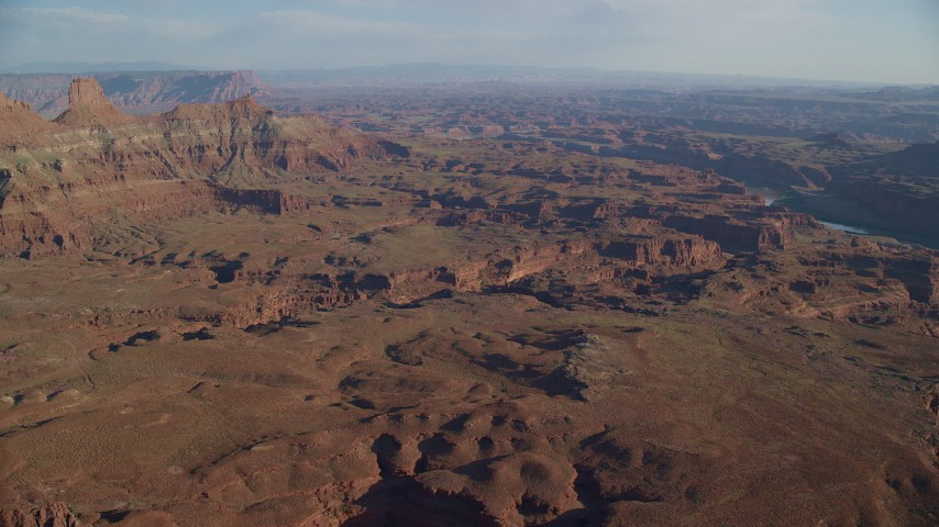 Approach Narrow Canyons in Moab, Utah Aerial Stock Footage | AX138_171