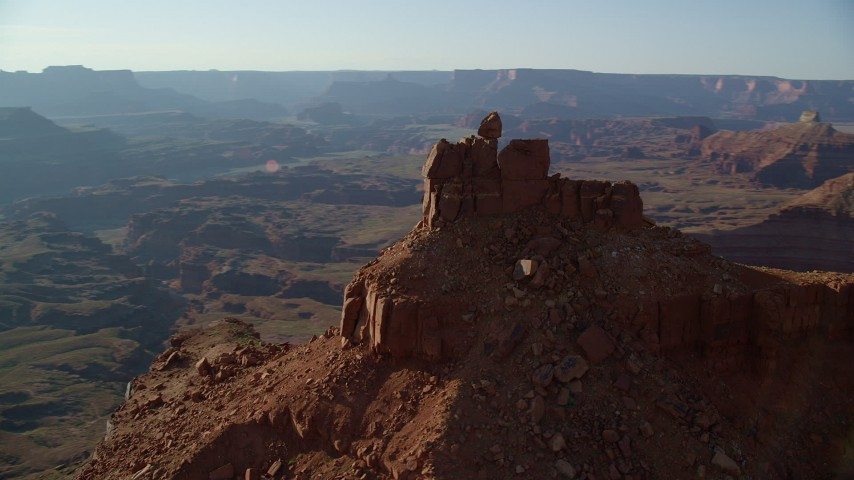 Orbit a Small Butte in Moab, Utah Aerial Stock Footage | AX138_177