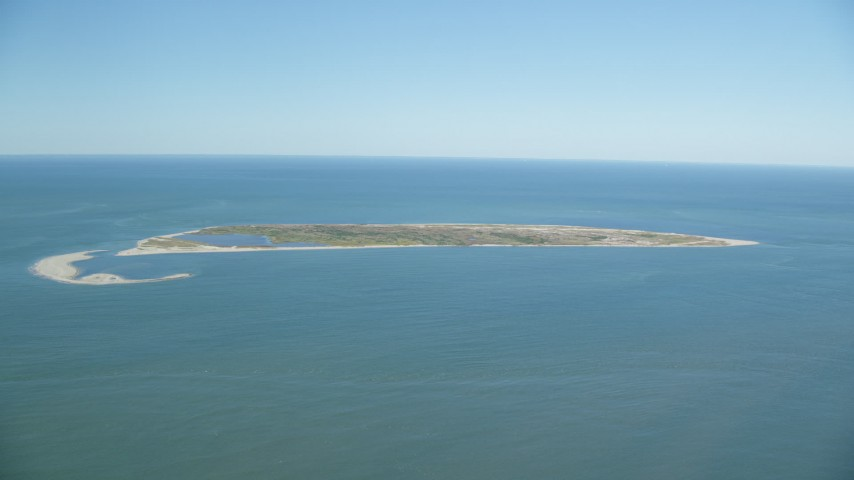 6K stock footage aerial video flying by Muskeget Island, Nantucket, Massachusetts Aerial Stock Footage   AX144_122