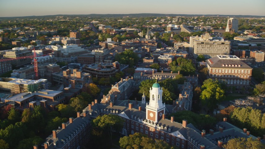 Colleges & Universities Aerial Stock Footage