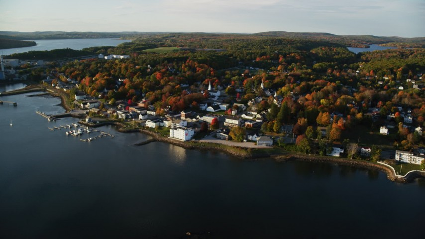 Maine Aerial Stock Footage