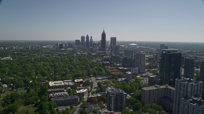 5K aerial video Downtown and Midtown Atlanta skyscrapers, Georgia Aerial Stock Footage | AX37_039