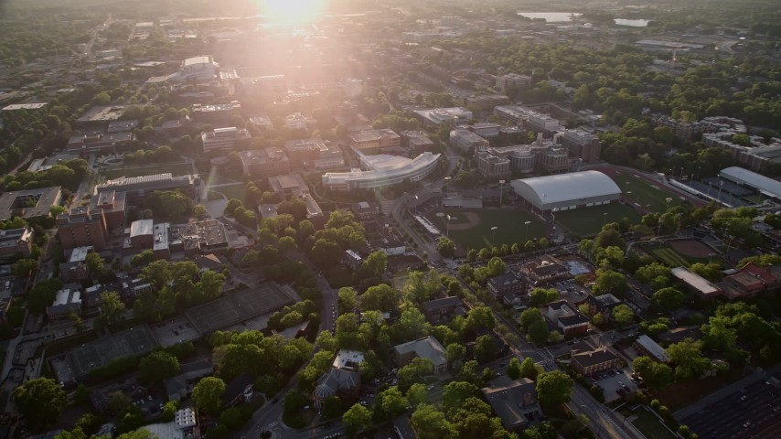 5K stock footage aerial video of Georgia Institute of Technology campus, Atlanta, Georgia Aerial Stock Footage AX39_051 | Axiom Images
