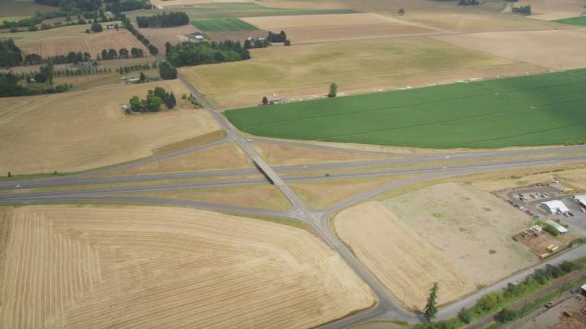 5K stock footage aerial video of Highway 26 near the North Plains Gliderport, North Plains, Oregon Aerial Stock Footage AX56_008 | Axiom Images