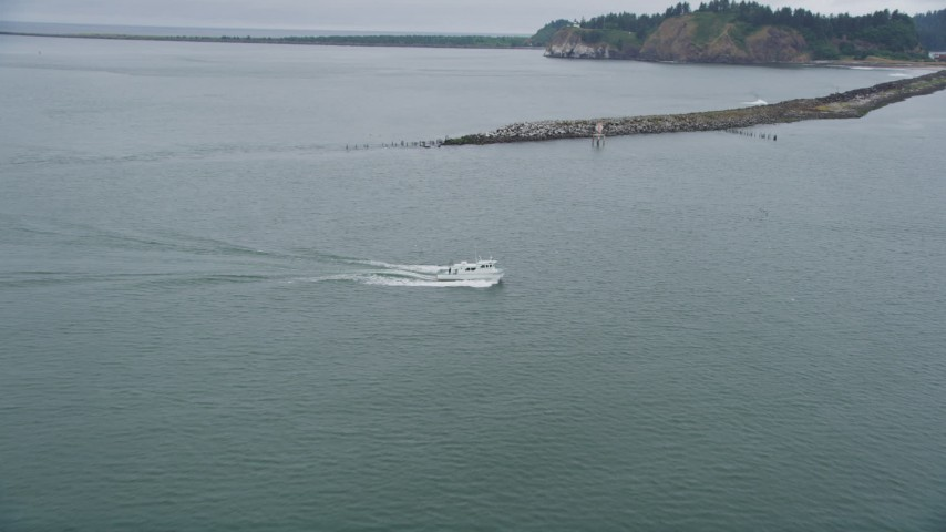Approach and track a fishing boat sailing on the columbia for Wa fishing license cost