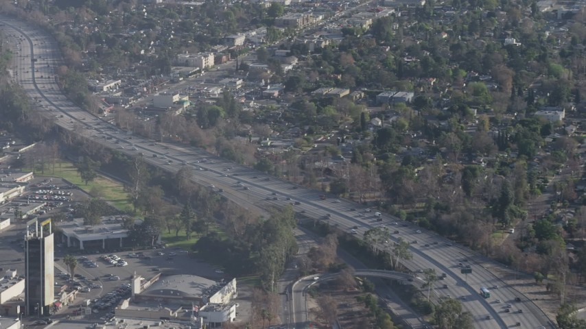 Traffic On Highway 170 And Highway 134 Interchange In North Hollywood Califo