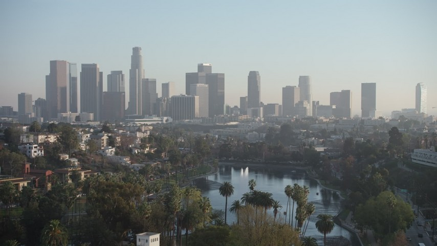 Downtown Los Angeles, CA Aerial Stock Footage