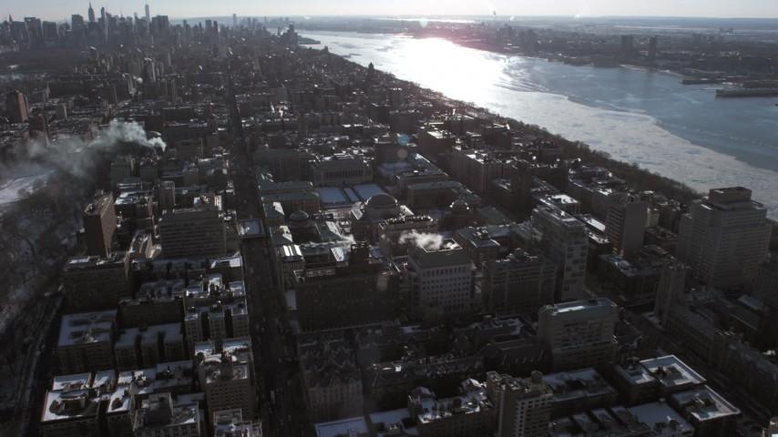 Columbia University campus, New York City Aerial Stock Footage | AX66_0085