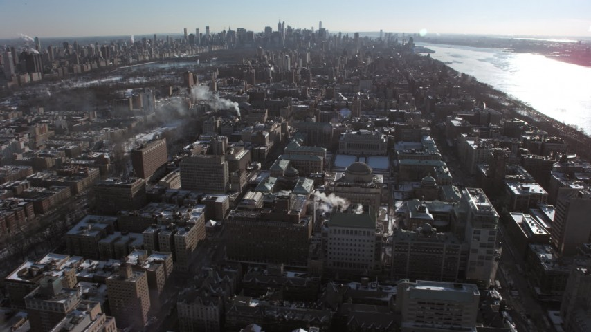 Columbia University campus, New York City Aerial Stock Footage | AX66_0089