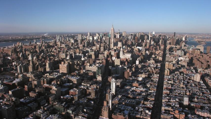 Midtown Manhattan, New York City Aerial Stock Footage | AX66_0179