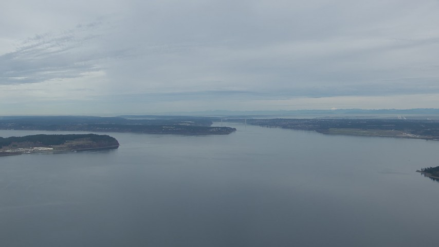 HD stock footage aerial video of McNeil and Fox Island in Puget Sound, Washington Aerial Stock Footage | CAP_009_004