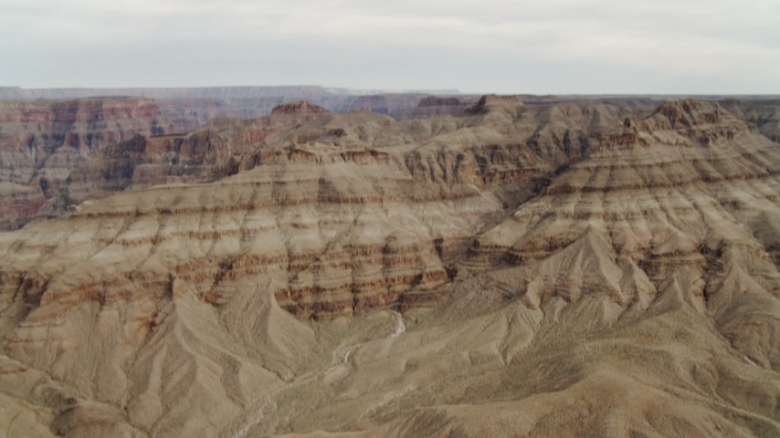 4K stock footage aerial video of tilt up revealing Grand Canyon, Arizona Aerial Stock Footage | DCA04_021