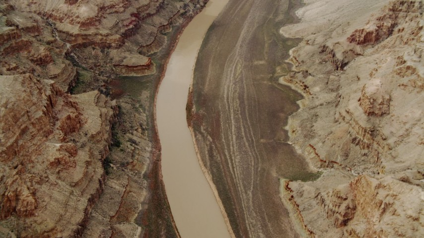 4K stock footage aerial video of the Colorado River cutting through Grand Canyon, Arizona Aerial Stock Footage | DCA04_029