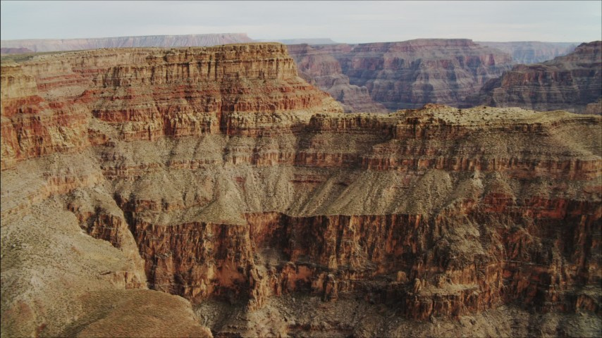 4K stock footage aerial video of flying by a rock formation in Grand Canyon, Arizona Aerial Stock Footage | DCA04_041