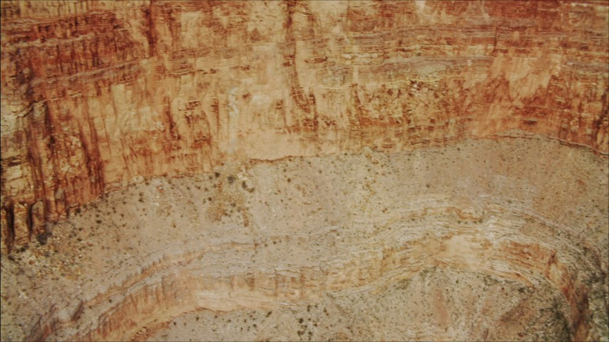 4K stock footage aerial video of flying by a cliff face in Grand Canyon, Arizona Aerial Stock Footage | DCA04_045