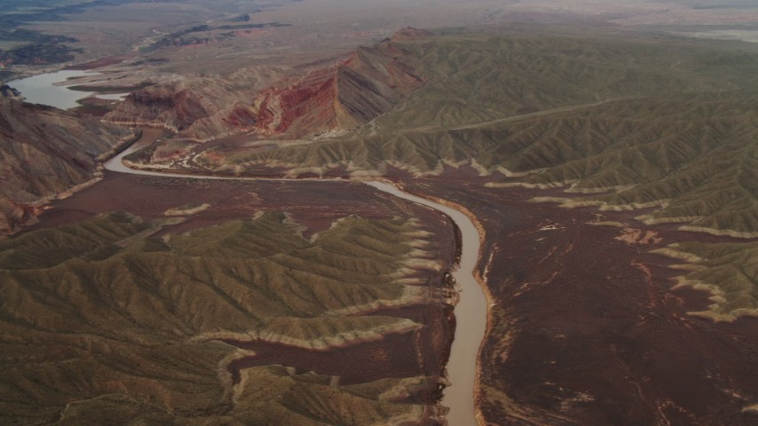 4K stock footage aerial video of flying over Colorado River, Grand Canyon, Arizona Aerial Stock Footage | DCA04_058