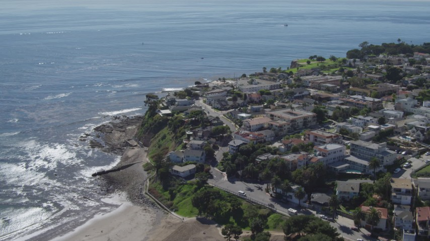 4K stock footage aerial video of flying over coastal homes in San Pedro, California Aerial Stock Footage | DCA06_048