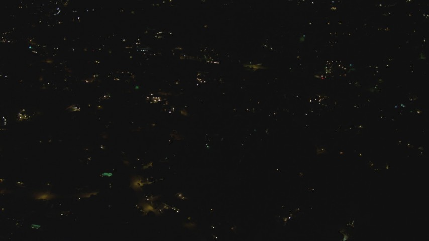 4K stock footage aerial video of flying over residential neighborhood, Woodland Hills, California, night Aerial Stock Footage   DCA07_178
