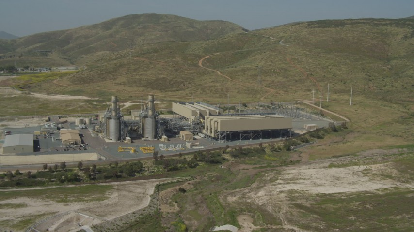4K aerial video of orbiting a power plant in Otay Mesa, California Aerial Stock Footage | DCA08_095