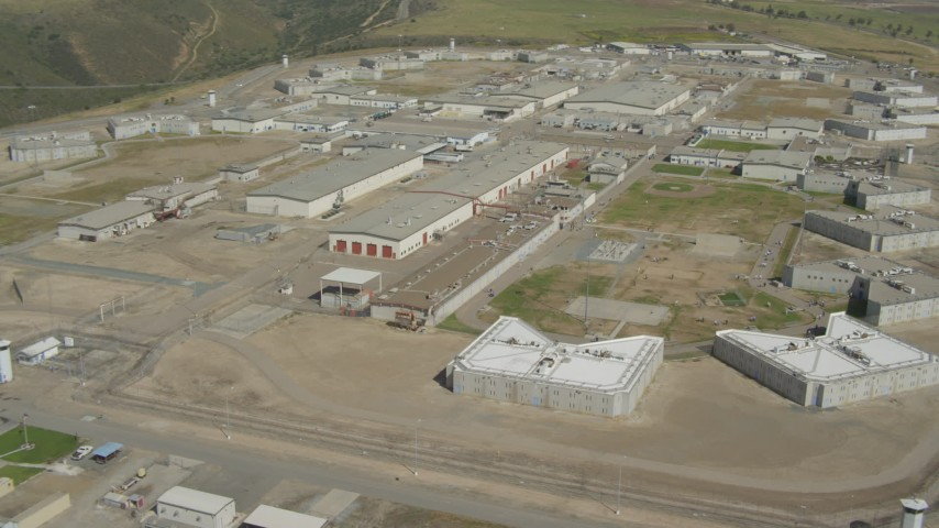 4K aerial video orbit a prison complex in Otay Mesa, California Aerial Stock Footage DCA08_105