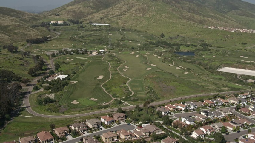 4K aerial video orbit golf course in Chula Vista, California Aerial Stock Footage | DCA08_119