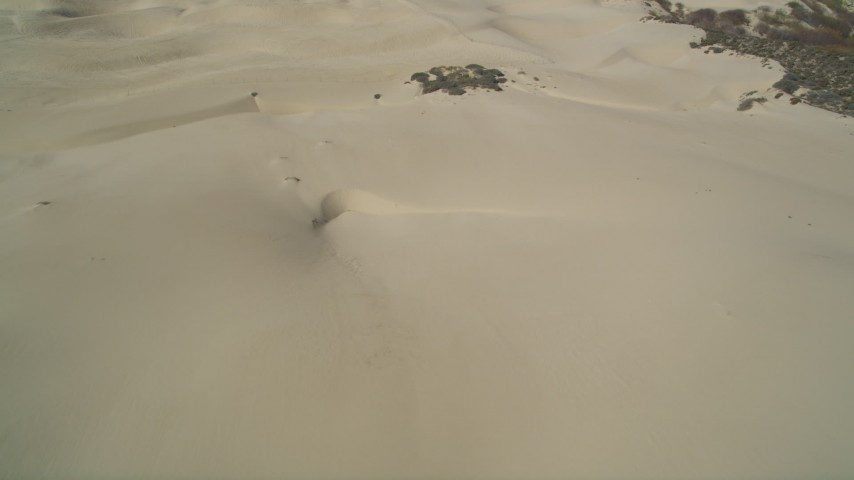 5K stock footage aerial video of flying over the sand dunes at Pismo Dunes, California Aerial Stock Footage | DFKSF02_024