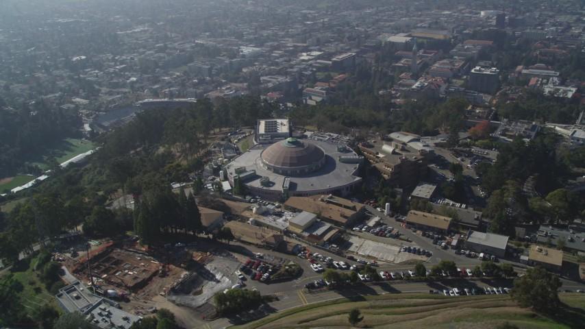 5K stock footage aerial video of an orbit of the Lawrence Berkeley National Laboratory, Berkeley, California Aerial Stock Footage | DFKSF08_014
