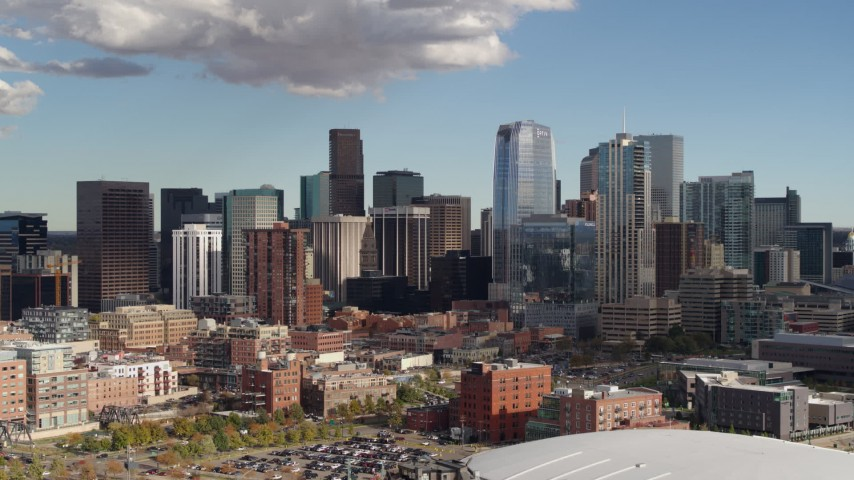 Denver, CO Aerial Stock Footage