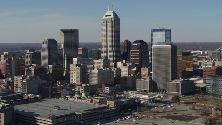 Indianapolis, IN Aerial Stock Footage