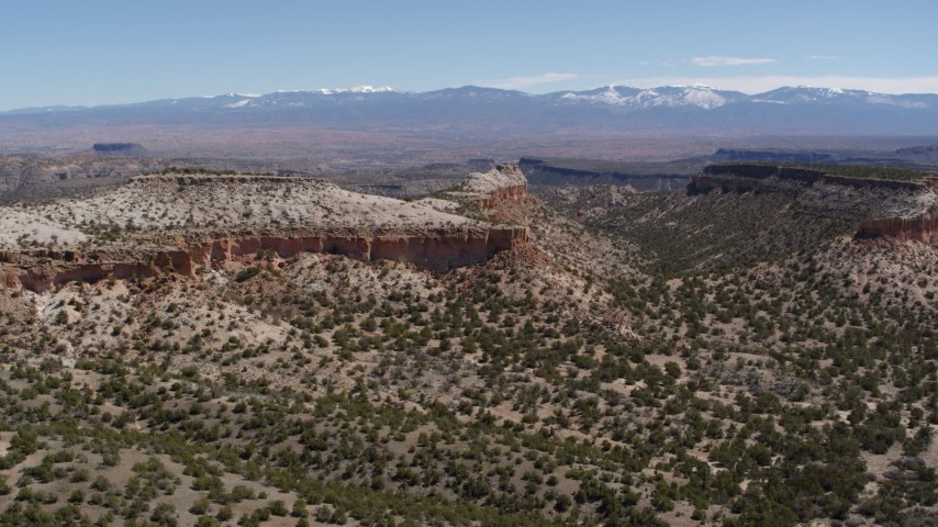 5.7K stock footage aerial video of a wide view of desert mesas in New Mexico Aerial Stock Footage   DX0002_133_005