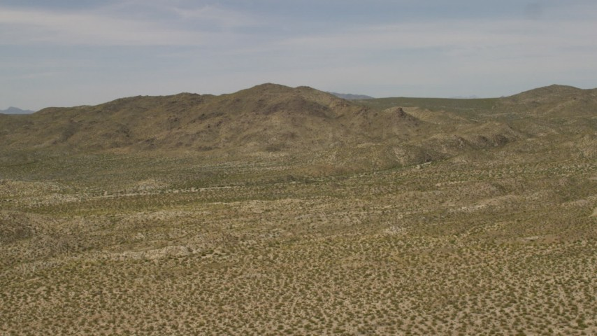 The Dead Mountains Wilderness Area in the Mojave Desert on the border of Nevada and California Aerial Stock Footage | FG0001_000027