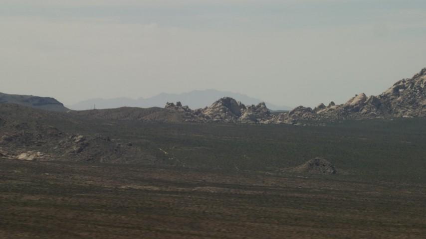 4K stock footage aerial video of Mojave Desert rock formations in San Bernardino County, California Aerial Stock Footage   FG0001_000050