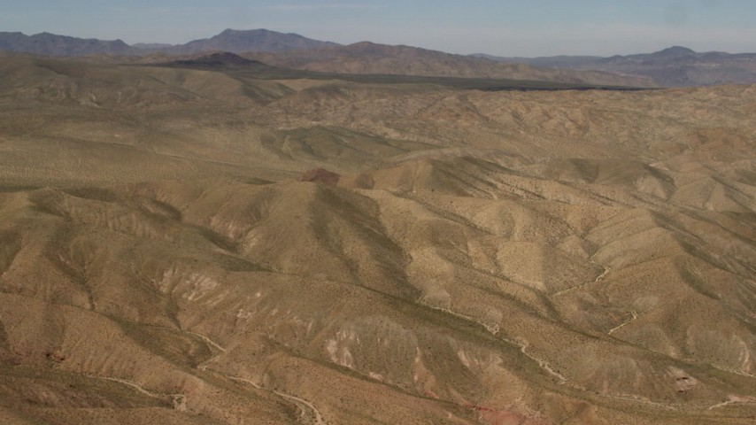 4K stock footage aerial video flyby the Rodman Mountains in the Mojave Desert, San Bernardino County, California Aerial Stock Footage | FG0001_000100