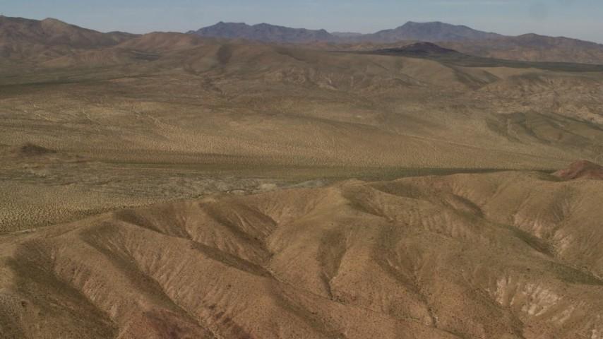 4K stock footage aerial video of the Rodman Mountains in the Mojave Desert, San Bernardino County, California Aerial Stock Footage | FG0001_000101