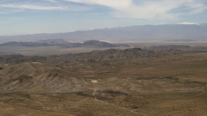 The Iron Ridge mountains in the Mojave Desert, San Bernardino County, California Aerial Stock Footage | FG0001_000106