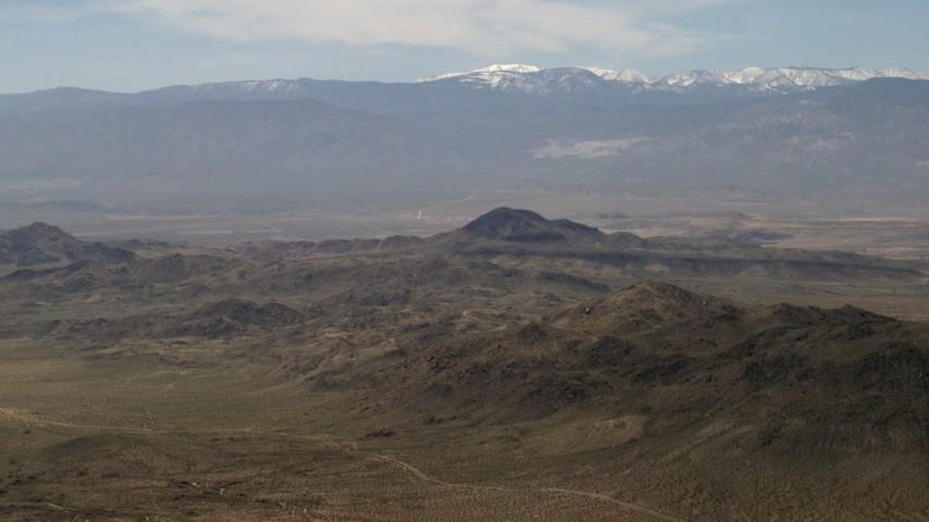 San Bernardino Mountains and Mojave Desert mountains, San Bernardino County, California Aerial Stock Footage   FG0001_000118