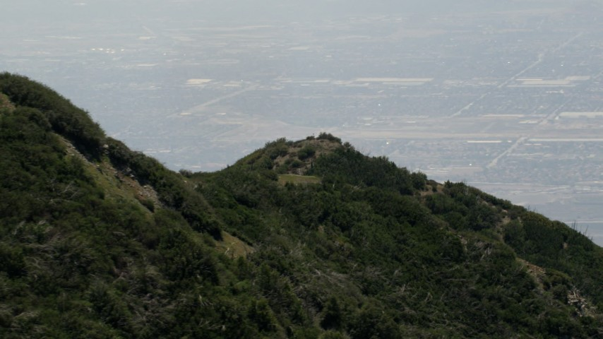 4K stock footage aerial video of a green mountain in the San Bernardino Mountains of California Aerial Stock Footage | FG0001_000135