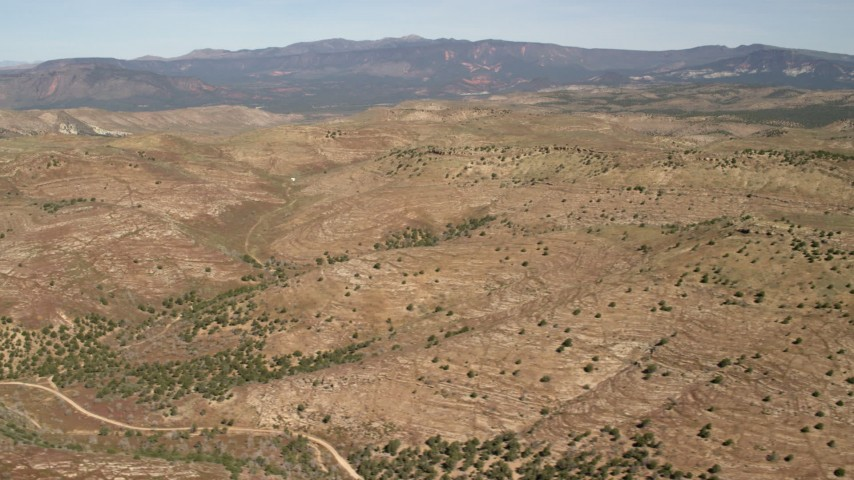 4K stock footage aerial video of passing mountains in the Arizona Desert Aerial Stock Footage | FG0001_000240