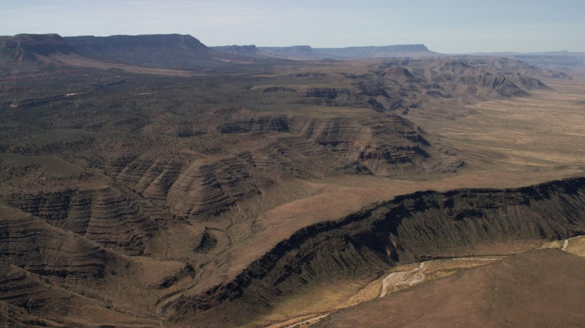 4K stock footage aerial video flyby large mesas in the Arizona Desert Aerial Stock Footage | FG0001_000243